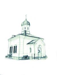 Contour image of church